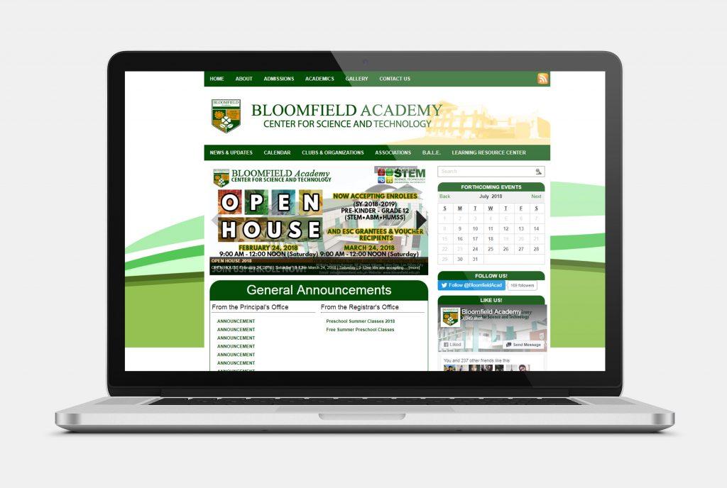 Bloomfield Academy Website
